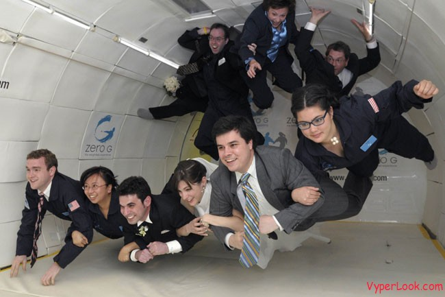 first wedding in zero gravity � amazing extreme odd