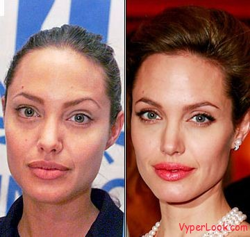 Celebrities Without Wearing Makeup angelina jolie