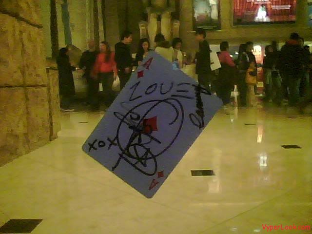 Criss Angel Luxor Card In Glass