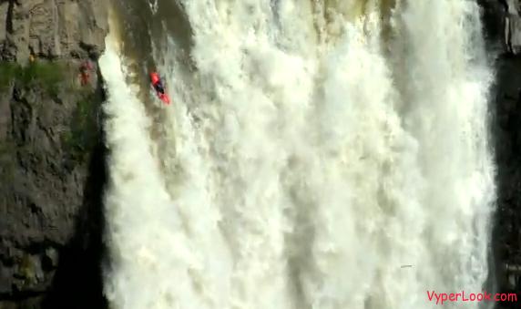Kayak Highest Waterfall Record