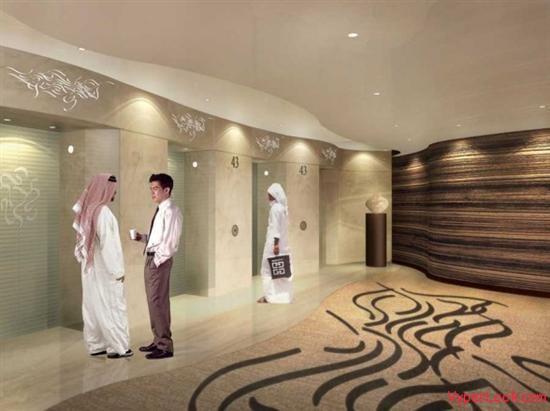 Burj-Khalifa-Dubai-–-Burj-Dubai-Elevator-Lobby-588x439