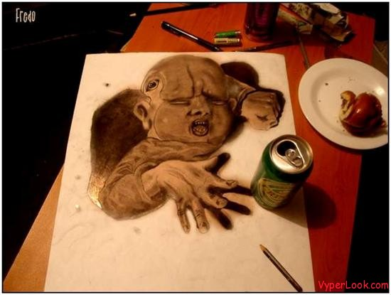 Incredible-and-Scary-3D-Pencil-Drawings-10