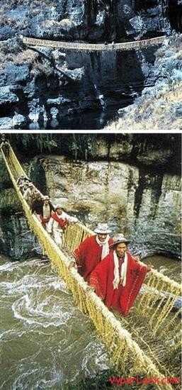 Inca Rope Bridge Inca Empire Peru