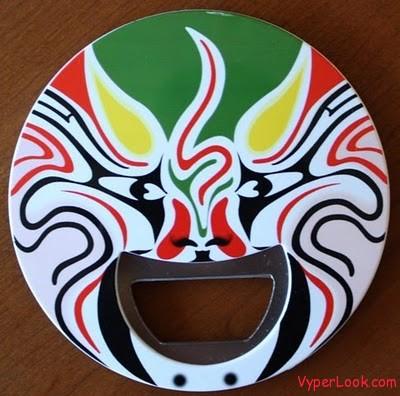 Sichuan mask bottle opener