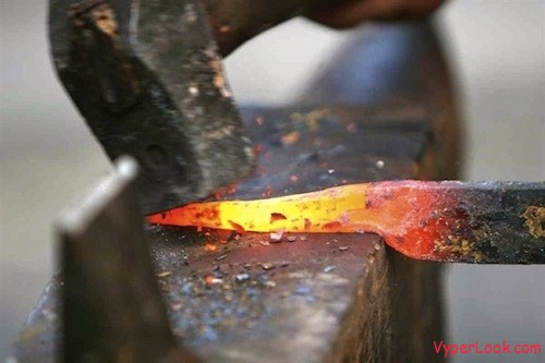 red-hot iron