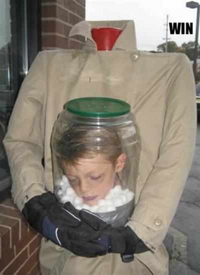 decapitated head in jar halloween costume