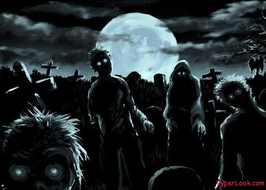 graveyard zombies evil spirits Spooky And Funny Halloween Superstitions Pictures Seen on www.VyperLook.com