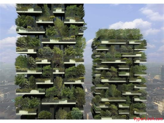Bosco Verticale Amazing Vertical Forest 1 Bosco Verticale   First Ever Vertical Forest Pictures Seen on www.VyperLook.com