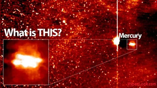 Huge UFO Filmed Next To Mercury