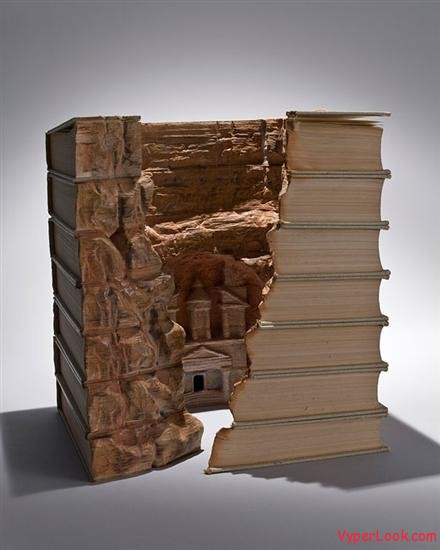 book carvings guy laramee 1 Amazing Landscapes Made From Books By Guy Laramee Pictures Seen on www.VyperLook.com