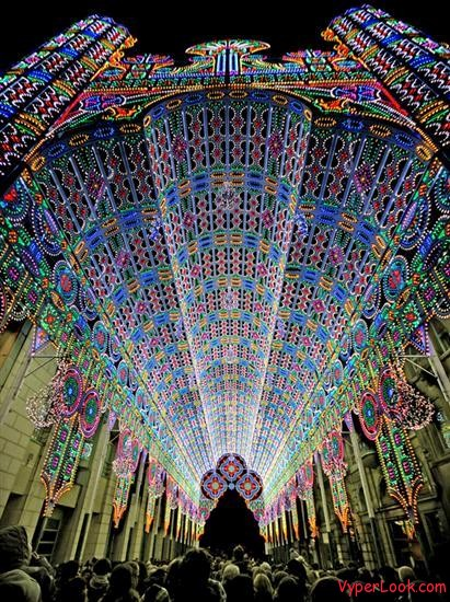 Amazing Cathedral made of lights 2