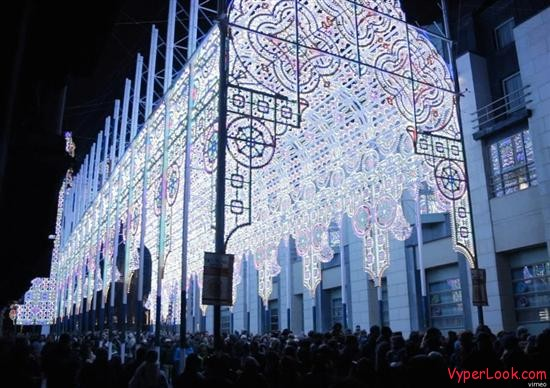 Amazing Cathedral made of lights 3