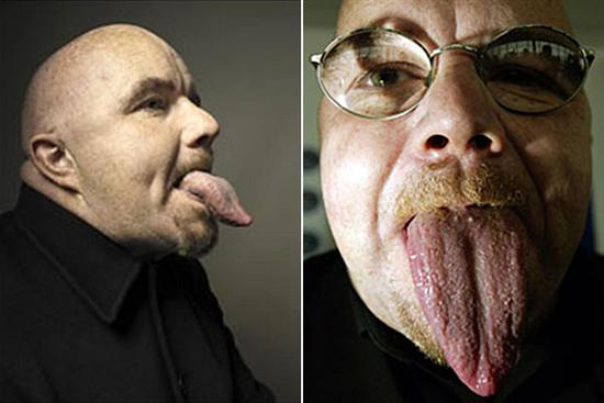 Stephen Taylor workld largest tongue