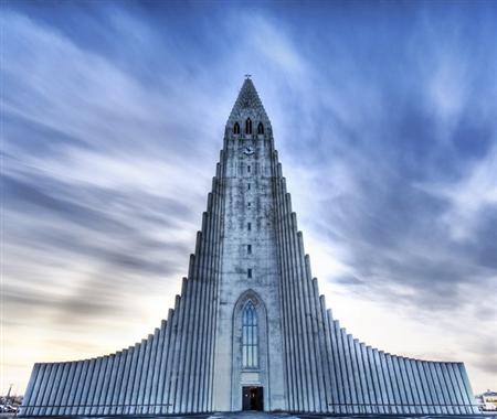 The Church of Hallgrimur Reykjavik Iceland