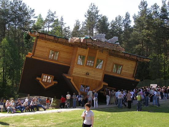 Upside Down House Szymbark Poland