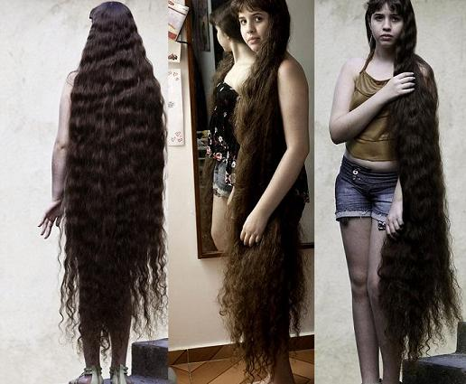 13 Year Old Girl With Longest Hair: 13 Feet 13 Inches Long