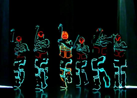 tron lightsuit dance routine