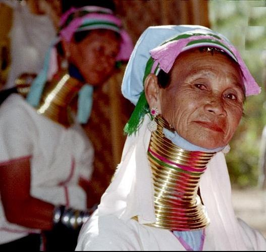 Myanmar long necks women