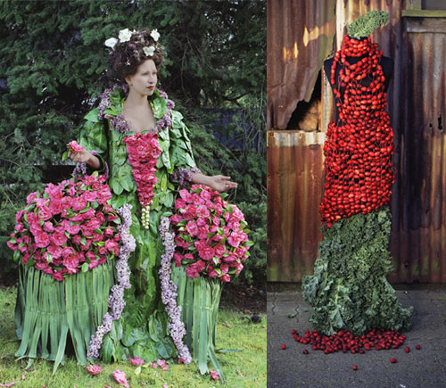 Dress of flowers weirdest dresses Weirdest Dresses Ever Seen Pictures Seen on www.VyperLook.com