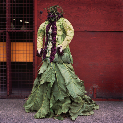 Nicole Dextras cabbage smock dress Weirdest Dresses Ever Seen Pictures Seen on www.VyperLook.com