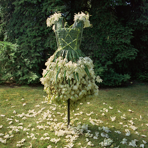 Nicole Dextras flower dress 1 Weirdest Dresses Ever Seen Pictures Seen on www.VyperLook.com