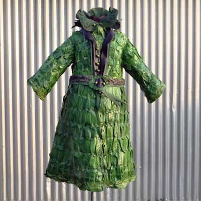 Nicole Dextras laurel leaves dress