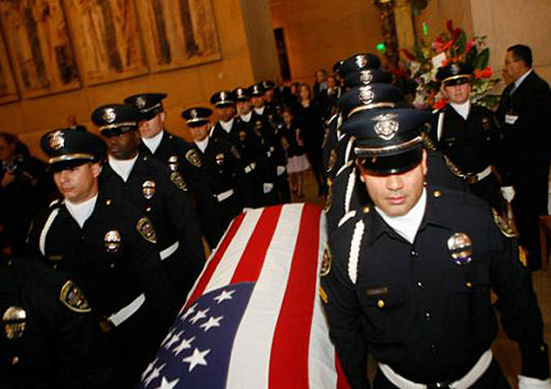 Officer funeral