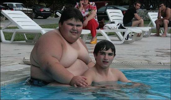 Dzhambik Khatokhov 2 Fattest Kids In the World as seen on CoolWeirdo.com