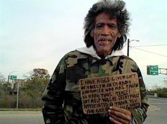 Homeless man with great voice is offered a job