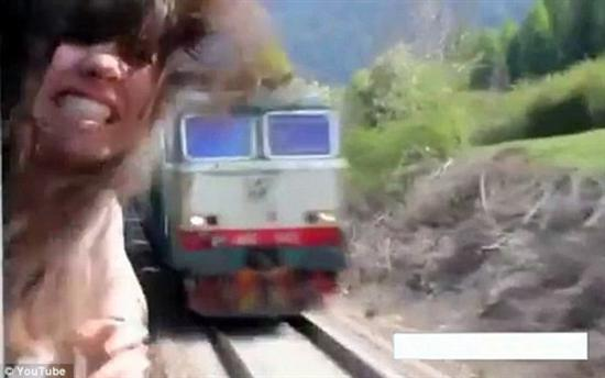 Girl Almost Hit By Speeding Train Lucky People Escaping Stupid Accidents Pictures Seen on www.VyperLook.com