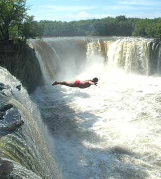 Highest waterfall dive