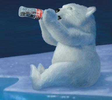 drinking coca cola