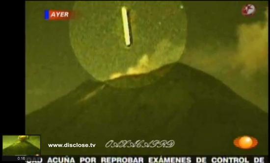 UFO goes in volcano 1