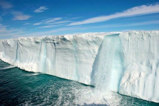 Glacier Waterfalls in Svalbard, Norway 1