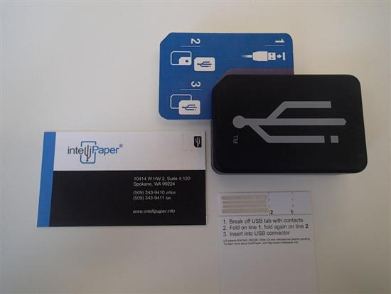 Intellipaper reader business cards Intellipaper   Wireless Paper based USB Pictures Seen on www.VyperLook.com