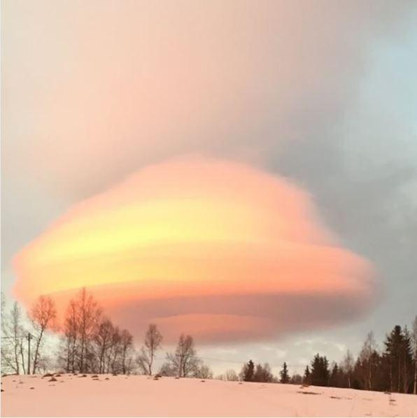 UFO CLOUD FORMATION IN SWEDEN