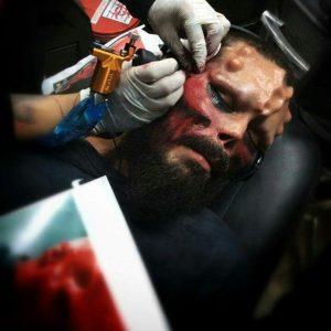 tattoo red skull  300x300