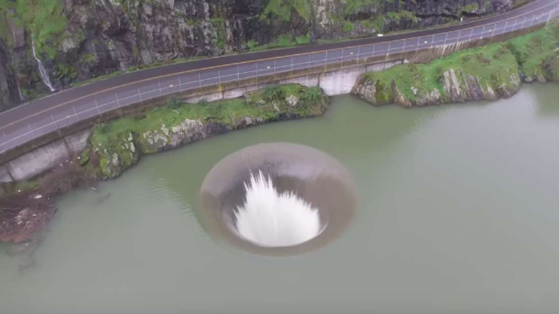 glory hole spillway in California