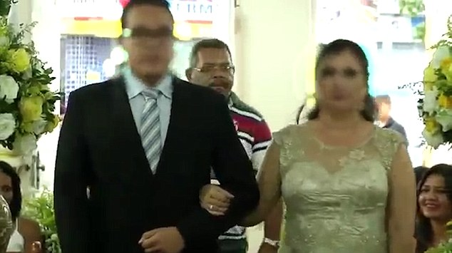 killer behind bride and groom