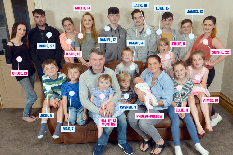 Largest family in britain has 20 children interesting things - Houses for families withchild ...