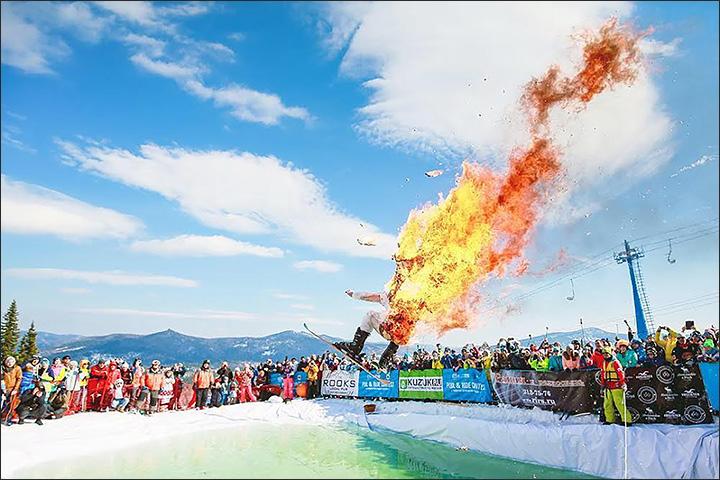 skier burned up for money