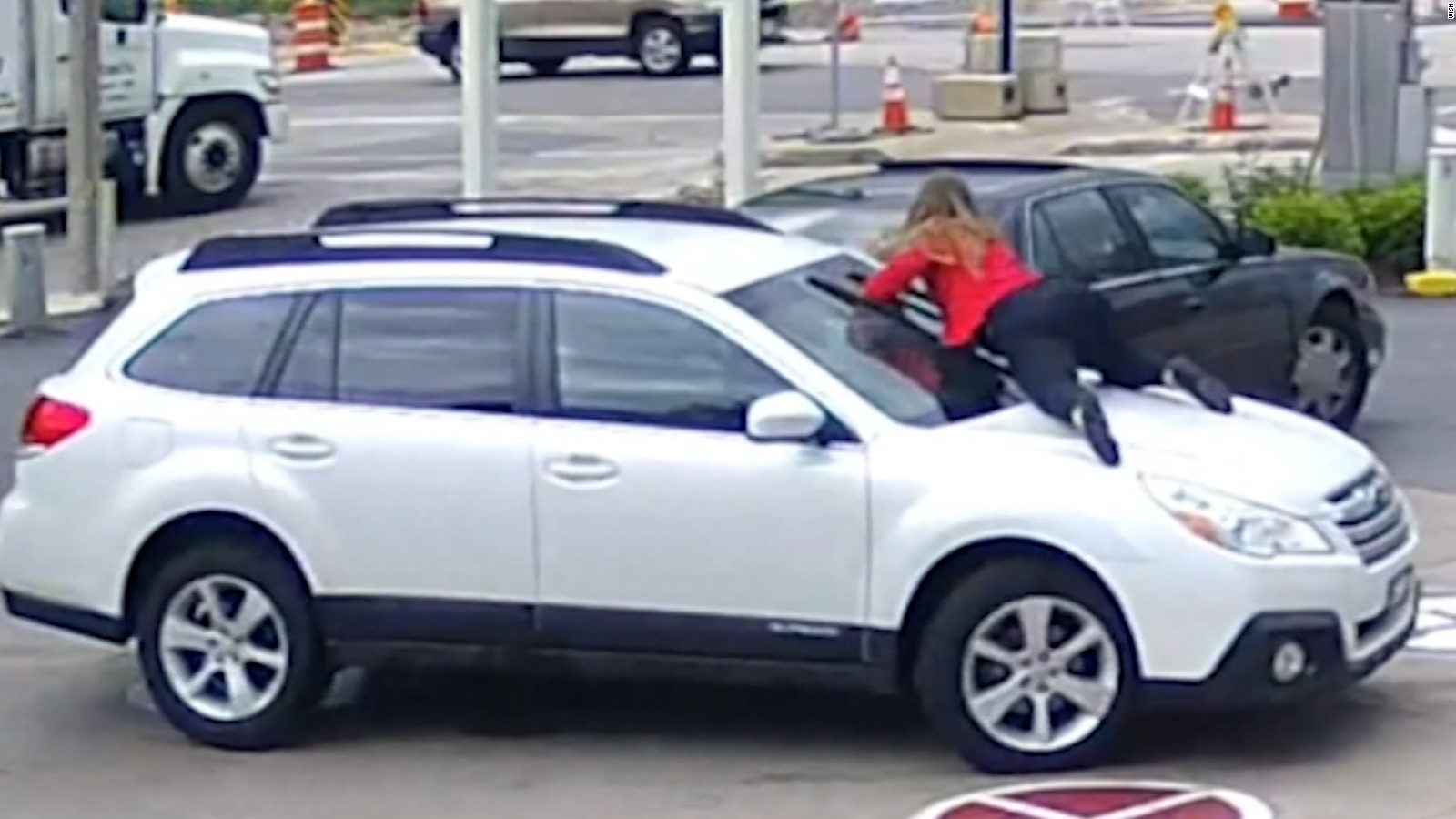 woman stops thief before stealing her car