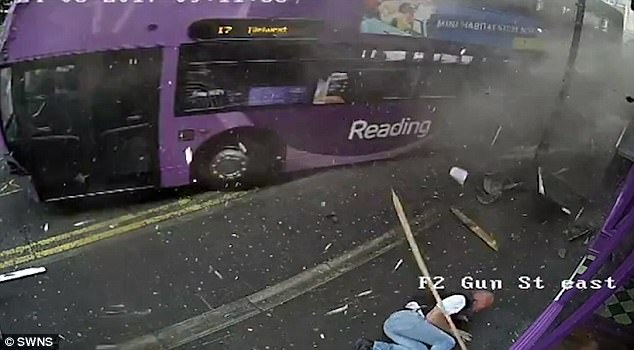 man got hit by a bus goes to a pub