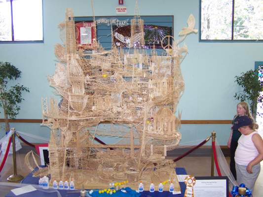 255569Amazing Toothpicks Sculpture Rolling Through The Bay actual size