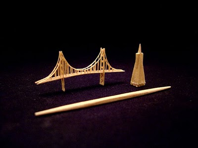 503688miniature Golden Gate Bridge Amazing Toothpick Sculptures Pictures Seen on www.VyperLook.com