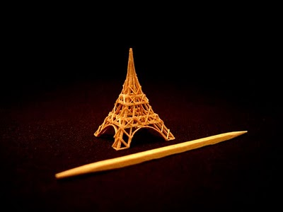 503688miniature eifel tower Amazing Toothpick Sculptures Pictures Seen on www.VyperLook.com