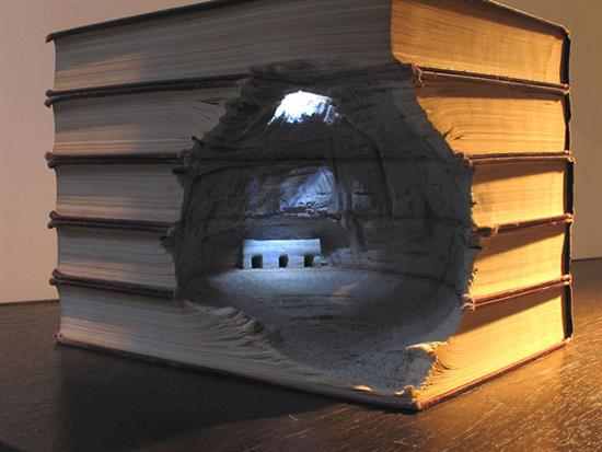 733499book carvings guy laramee 9 Amazing Landscapes Made From Books By Guy Laramee Pictures Seen on www.VyperLook.com