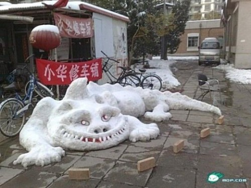 899948china snow sculptures 500x374 Largest Snowmen Ever Built Pictures Seen on www.VyperLook.com