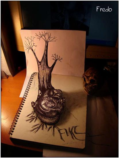 965020Incredible and Scary 3D Pencil Drawings 2